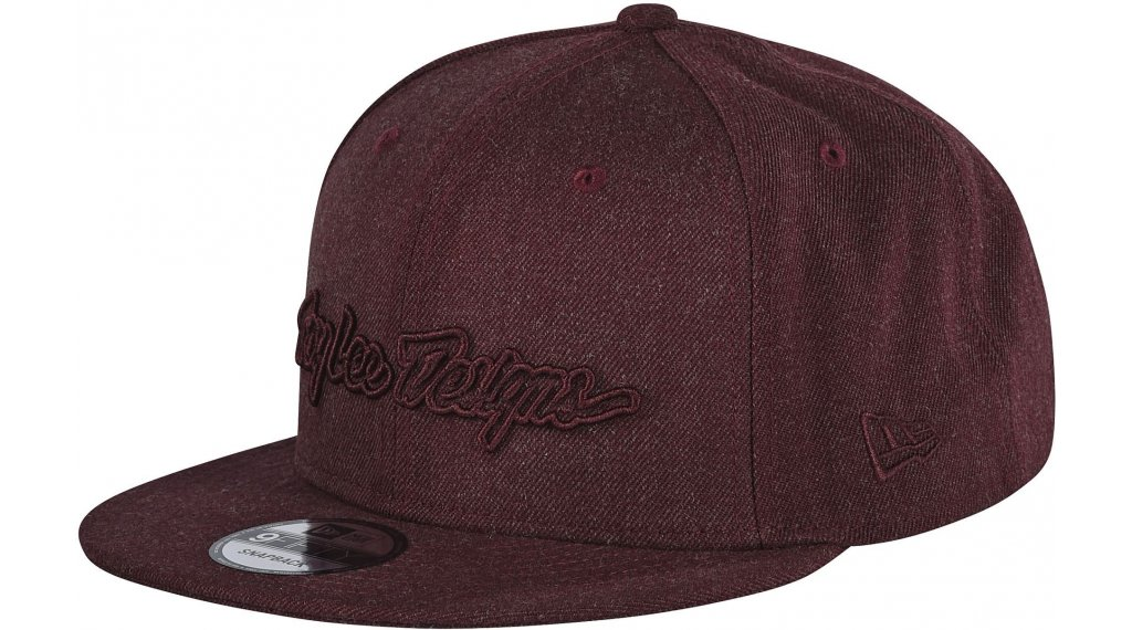 Troy Lee Designs Classic Signature Snapback cap size onesize red wine