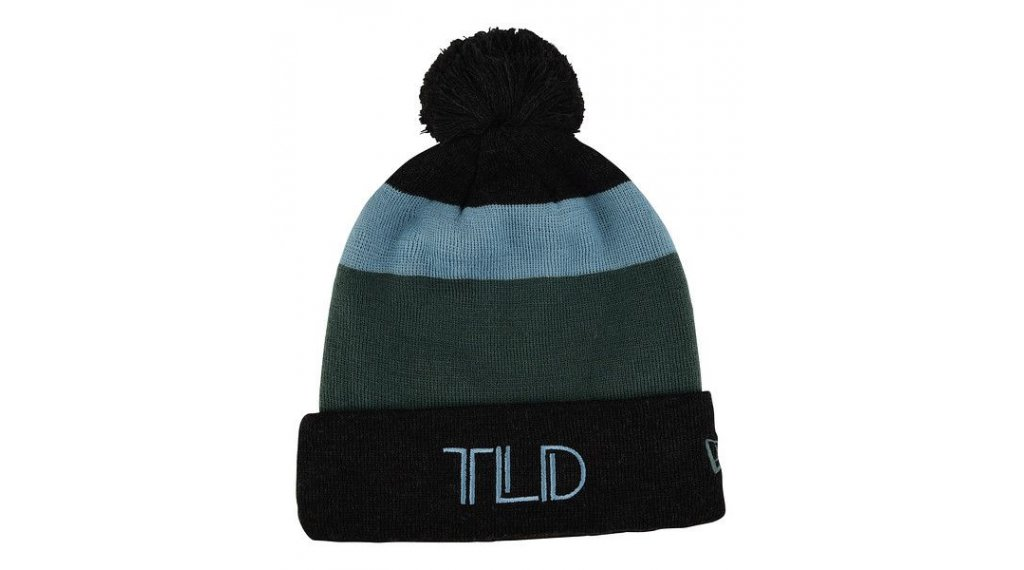 Troy Lee Designs Block Pom Beanie Gr. unisize charcoal/stone blue