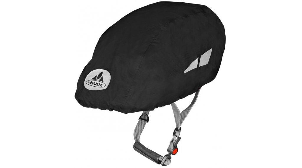 VAUDE Logo Helm Regenüberzug black