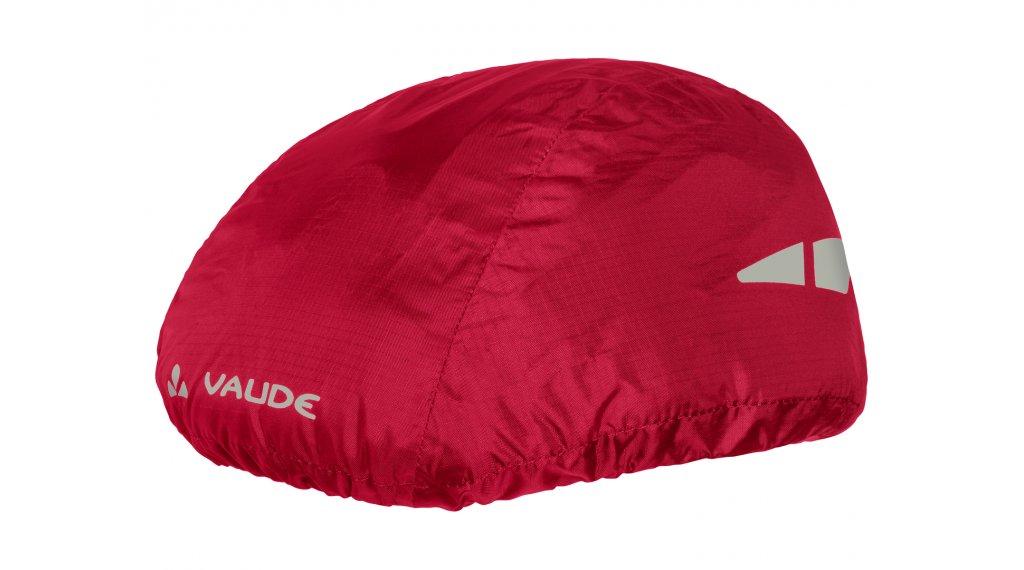 VAUDE Logo Helm Regenüberzug indian red