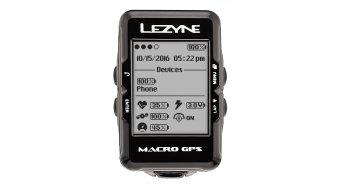 Lezyne Macro GPS ciclocomputador incl. correa de pecho negro(-a)