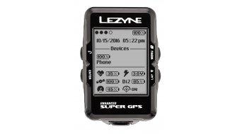 Lezyne Super GPS ciclocomputador incl. correa de pecho negro(-a)