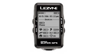 Lezyne Super GPS bike computer incl. chest belt and Speed and Cadence sensor black