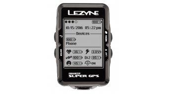 Lezyne Super GPS Fahrradcomputer schwarz