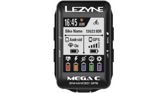 Lezyne Mega Color GPS ciclocomputer nero