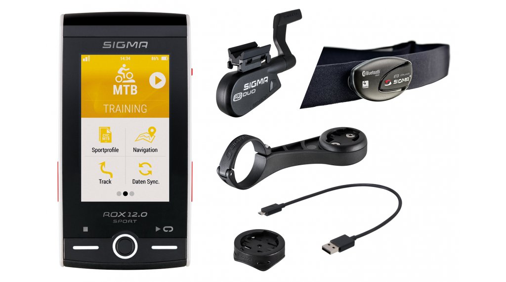 Sigma Sport Computer ROX 12.0 Sport GPS Set weiß