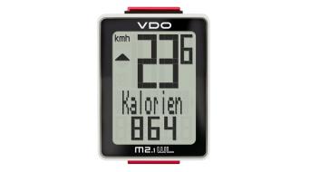 VDO M2.1 WL Fahrradcomputer schwarz/weiß
