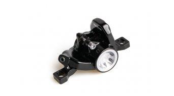 Magura Scheibenbremsen-Ersatzteile Bremszange einteilig MT6 schwarz, Deckel silber inkl. Bremsbelägen