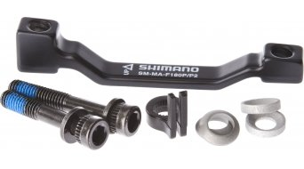 Shimano adapter voorwiel 180mm rotor van Post-Mount op Post-Mount SM-MA-F180P/P2