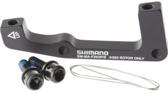 Shimano adapter front wheel 203mm rotor from Post-Mount on ISO- standard SM-MA-F203P/S