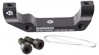 Shimano adapter voorwiel 203mm rotor van Post-Mount op BoXXer-versie (tot model 2009) SM-MA-F203P/B