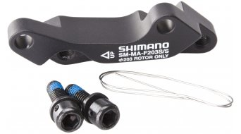 Shimano adapter front wheel 203mm rotor from ISO- standard on ISO- standard SM-MA-F203S/S