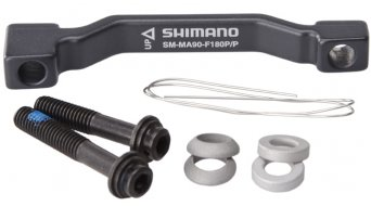 Shimano XTR adapter wheel rotor from Post-Mount on Post-Mount