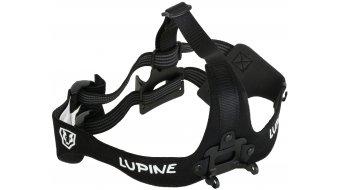 Lupine Heavy-Duty cinta para poner en la frente para Wilma R con FastClick Akkubefestigung negro(-a)