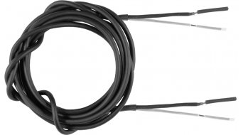 SON coax cable 2 x 0,5 mm² outer Ø 3 mm black- per meter