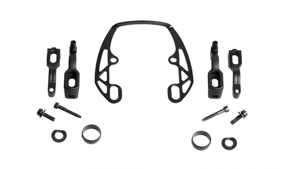 Magura Felgenbrems-Ersatzteil EVO2-Adapter, für eine Bremse, schwarz, inkl. EVO2-Montageplatte schwarz