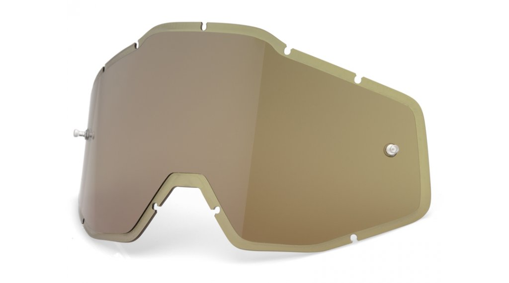 100% Injected HD Goggle Ersatzscheibe olive (Anti-Fog Lens)