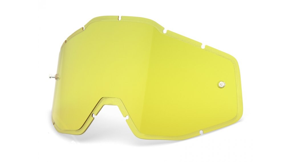 100% Injected HD Goggle 备用镜片 yellow (Anti-Fog Lens)