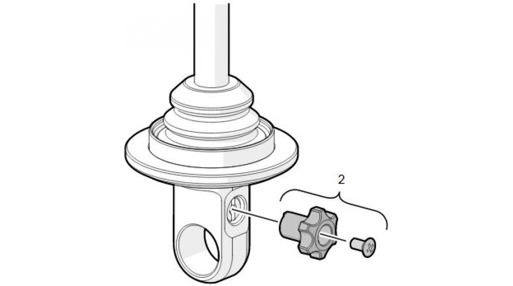 Öhlins TTX 22 M Low Speed Compression Knob mit Schraube