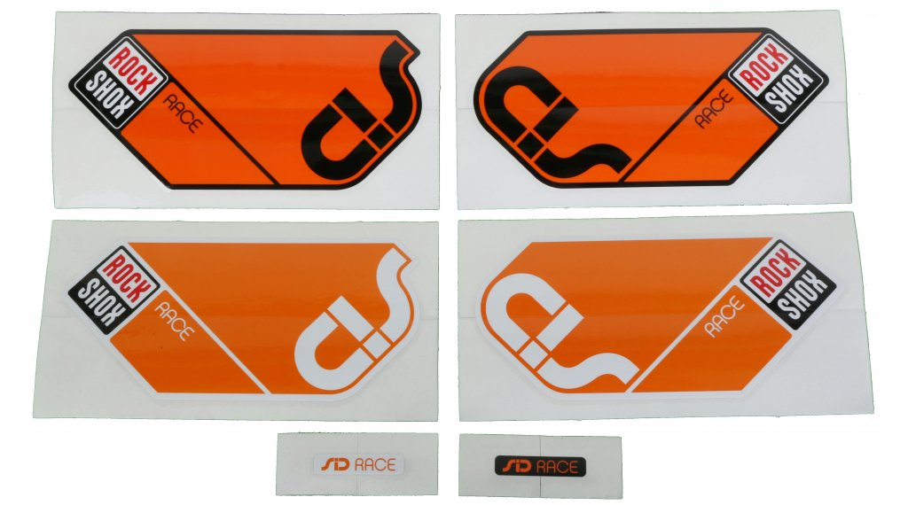 RockShox RS-1 XX Replacement Decal Set //// Red//White