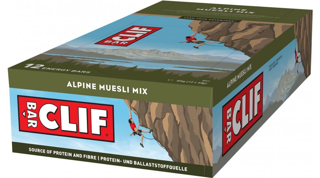 Clif Bar Riegel Alpine Müsli Mix (Müsli Mix) Box mit 12*68g-Riegel
