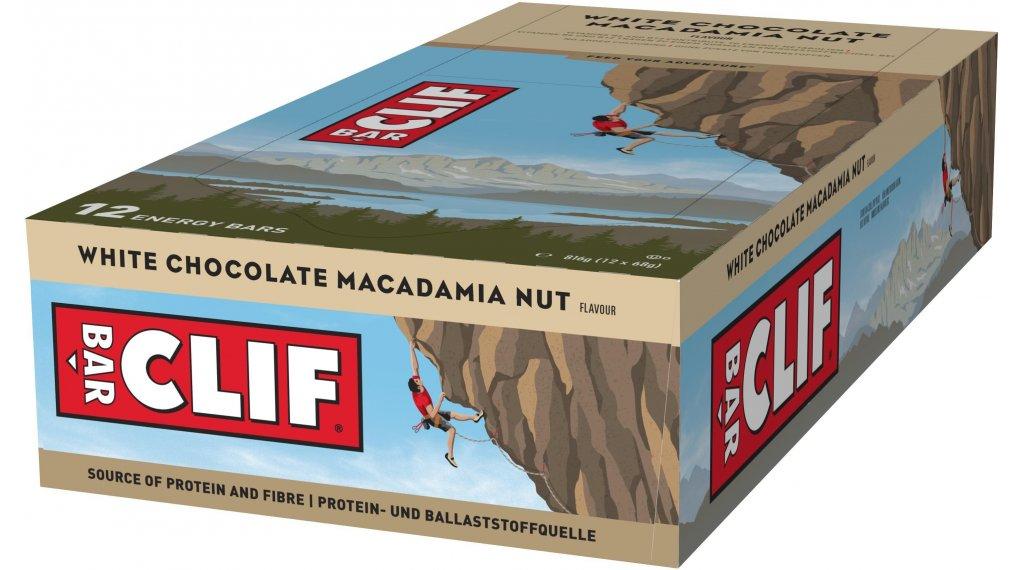 Clif Bar Riegel White Chocolate Macadamia (Macadamia-Weiße Schokolade) Box mit 12*68g-Riegel