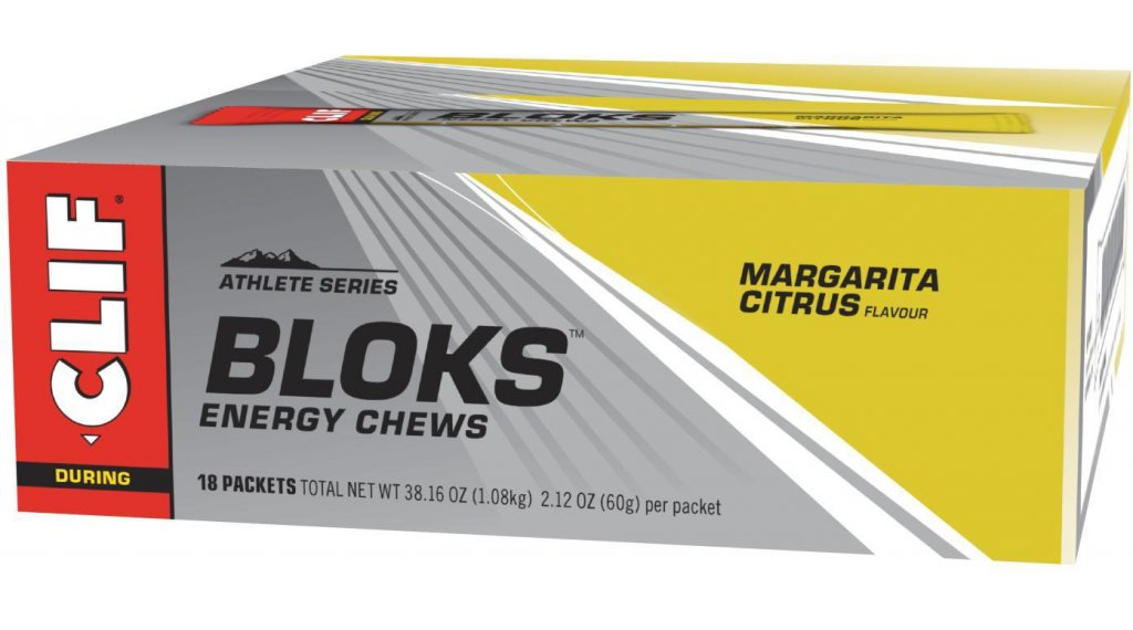 Clif Bar Shot Bloks Margarita (Zitrus) Box mit 18*60g-Beutel