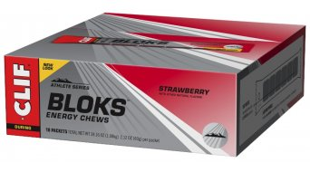 Clif Bar Shot Bloks Strawberry (Erdbeere) Box mit 18*60g-Beutel