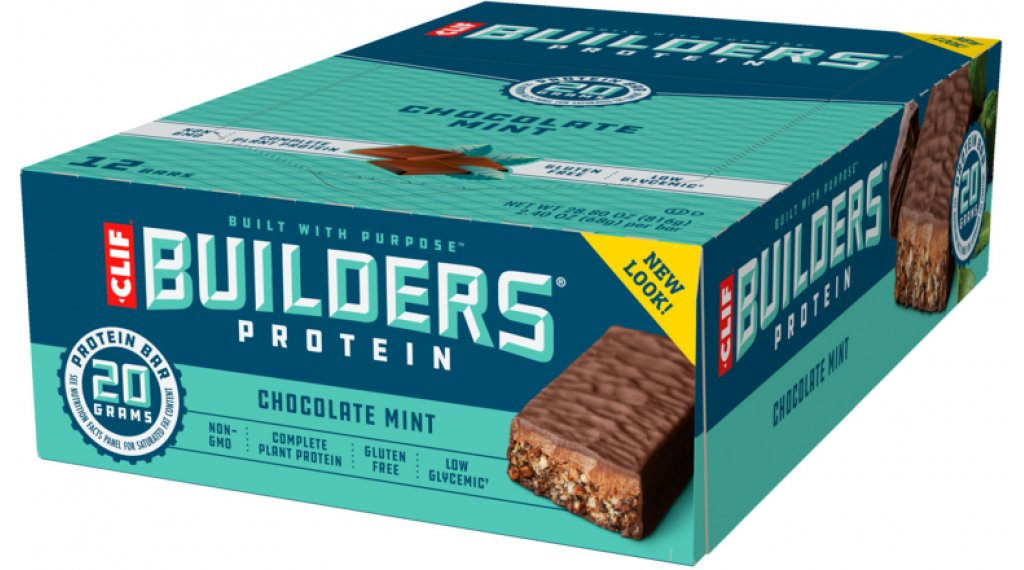 Clif Bar Builder`s Protein Bar Chocolate Mint (Schokolade-Minze) Box mit 12*68g-Riegel