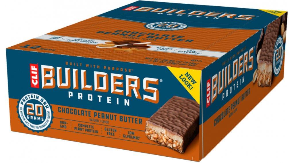 Clif Bar Builder`s Protein Bar Chocolate Peanut Butter (Schokolade-Erdnussbutter) Box mit 12*68g-Riegel