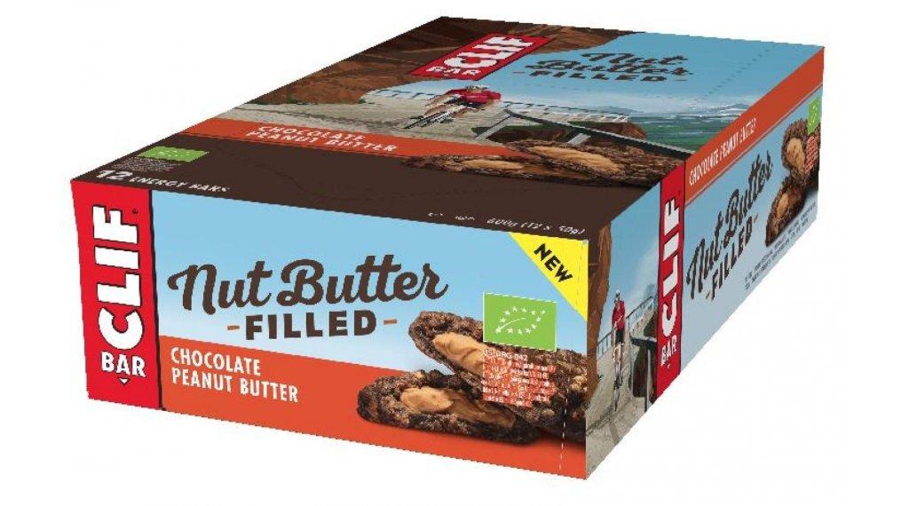 Clif Bar Nut Butter Filled Riegel Chocolate Peanut Butter (Schokolade-Erdnussbutter) Box mit 12*50g-Riegel