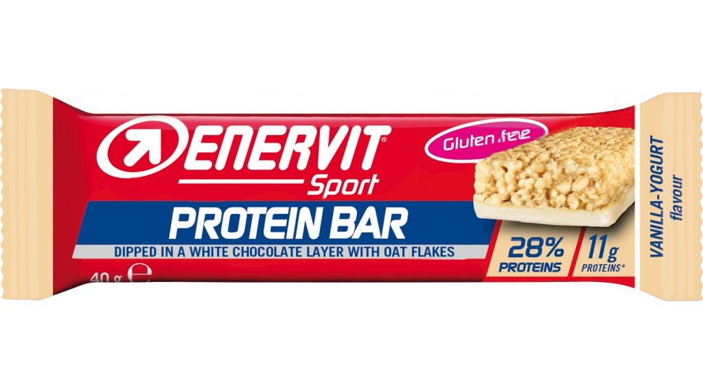 Enervit Sport Protein Bar Vanilla Yogurt 28% Box 有25*40克-能量棒 (glutenfrei)
