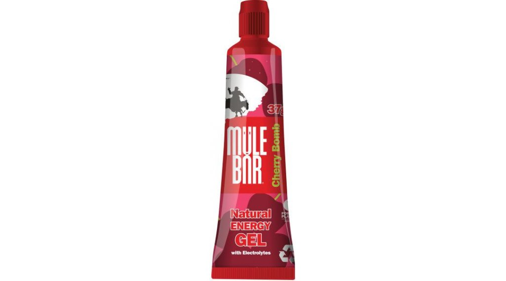 MuleBar Kicks Energy Gel Cherry Bomb (Kirsche) 37g-Beutel