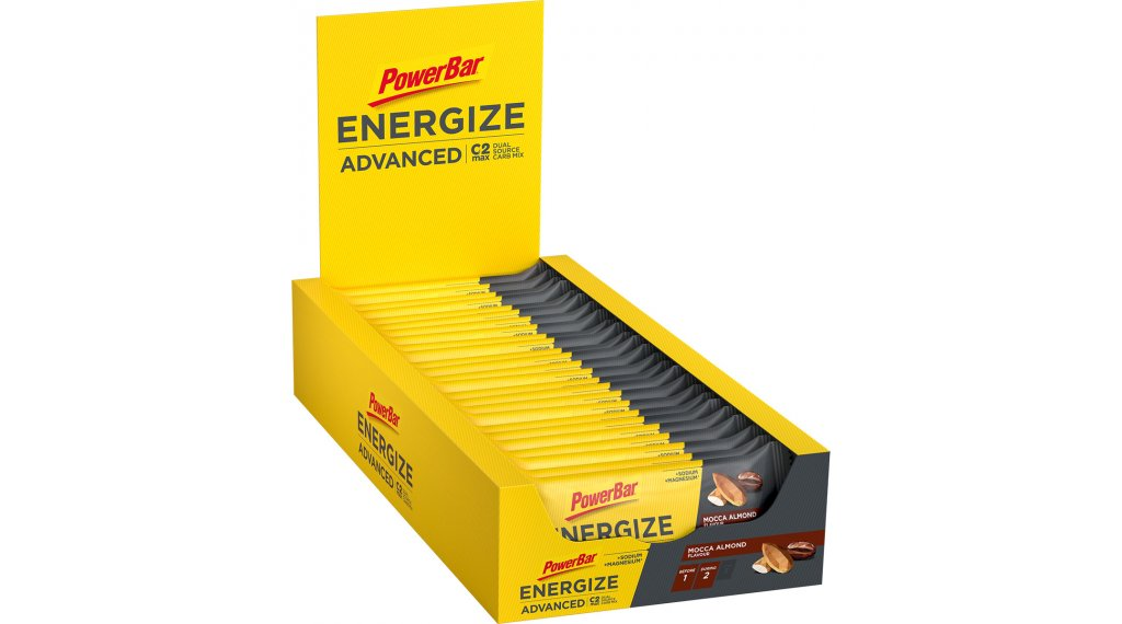PowerBar Energize Advanced Mocca Almond Box mit 25*55g-Riegel