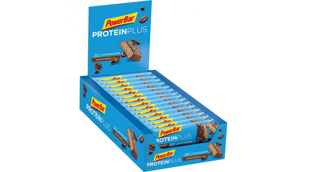 PowerBar Protein Plus Low Sugar Chocolate Espresso Box mit 30*35g-Riegel