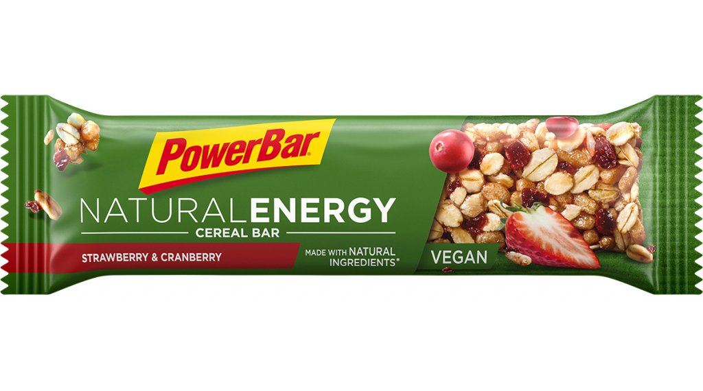 PowerBar Natural Energy Cereal Strawberry Cranberry 40g-Riegel (vegan)