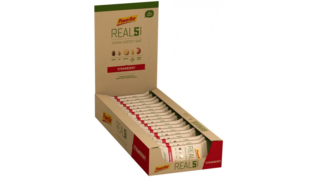 PowerBar Real 5 Strawberry Raisin Box mit 18*65g-Riegel