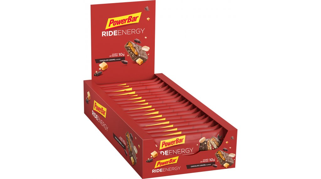 PowerBar Ride Energy Chocolate-karamella Box mit 18*55g-szelet