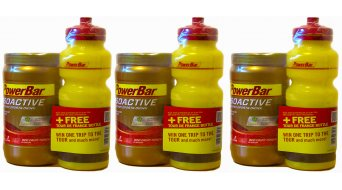 PowerBar Isoactive isotonic Sports Drink powder- 3-Pack 600g- canister + free water bottle