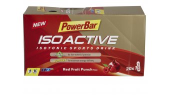 PowerBar Isoactive isotonic Sports Drink Pulver Red Fruit Punch Box mit 20*33g-Beutel
