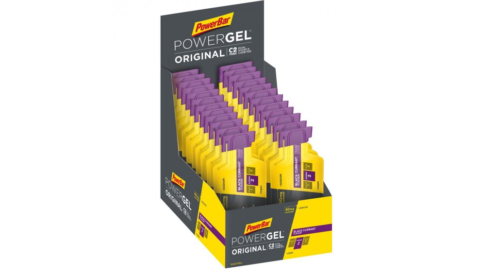 PowerBar Power gel originál Black Currant Box s 24*41g-sáček (s Koffein)