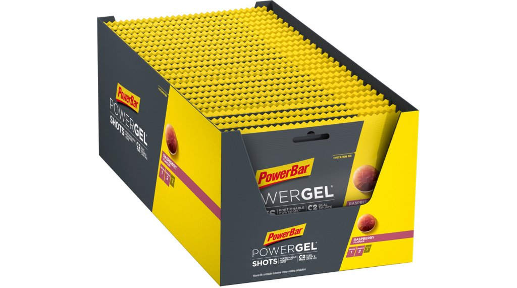 PowerBar Power gel Shots Raspberry Box  with  24*60g- pack
