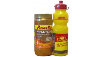 PowerBar Isoactive isotonic Sports Drink Pulver Orange 600g-Dose + GRATIS Trinkflasche