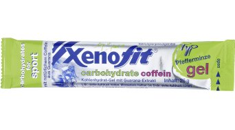 Xenofit carbohydrate gel pack 25g Coffein Pfefferminze
