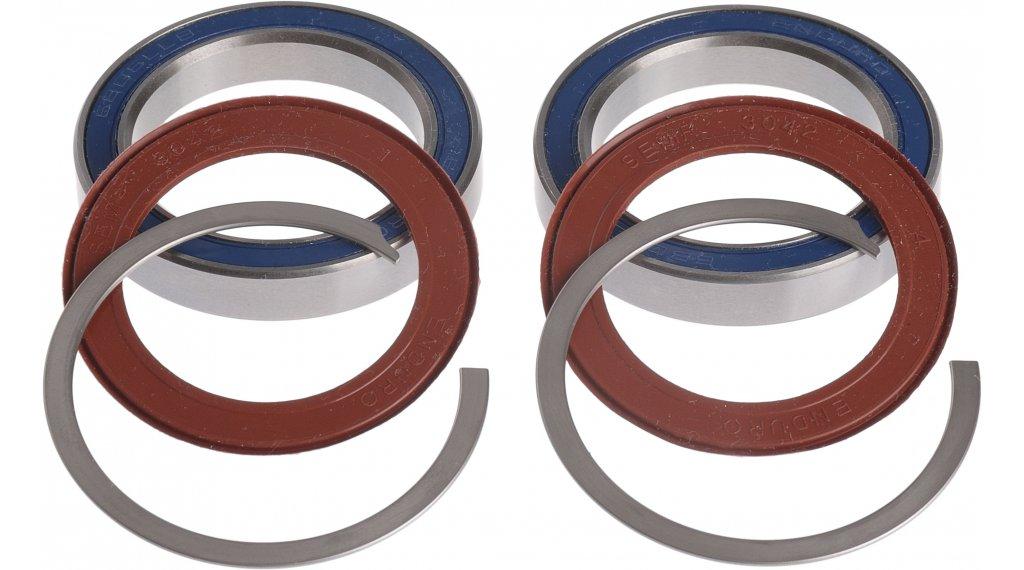 ROTOR BB30 Road/MTB Lagerset für 30mm Kurbelwellen Stahl silber42mm Gehäusedurchmesser, passt z.B. für viele Cannondale