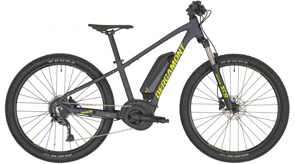 "Bergamont E-Revox 3 26 26"" E-Bike MTB(山地) Kinderkomplettrad 型号 36厘米 anthracite/yellow (matt) 款型 2020"