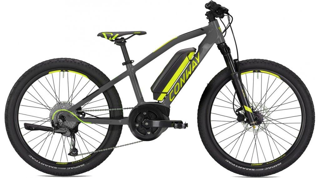 "Conway eMS 240 24"" E-Bike 整车 儿童 型号 33厘米 grey matt/青柠色 款型 2020"