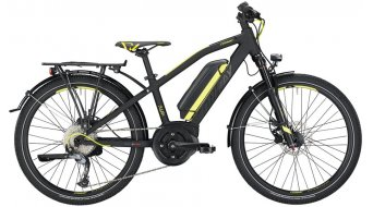 """Conway eMC 240 24"""" E-Bike 儿童 型号 33厘米 black matt/青柠色 款型 2019"""
