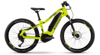 "Haibike SDURO HardFour 1.0 24"" MTB E-Bike Komplettrad Kinder Gr. XS lime/titan/schwarz Mod. 2020"