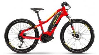 "Haibike SDURO HardFour 400Wh 24"" MTB(山地) E-Bike 儿童 型号 XS 红色/黑色/黄色 款型 2019- 样品/演示品- 擦痕 于 下叉/擦痕 于 蓄电池/擦痕 于 鞍管/擦痕 于 前叉/新的 MOTOR"